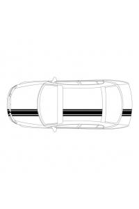 3 полосы на авто: ширина 1 - 20 см, 2 - 4 см