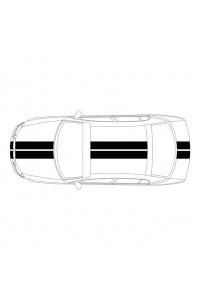2 полосы на авто: ширина 15 см