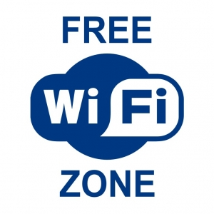 Free WI-FI zone - наклейка