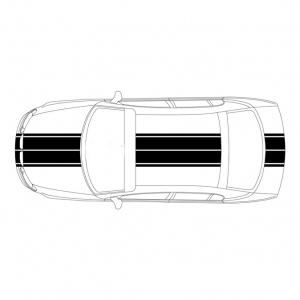 4 полосы на авто:  ширина - 15 см и 4 см