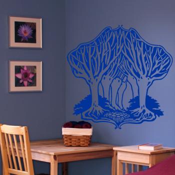 Декоративный узор - сказочный лес