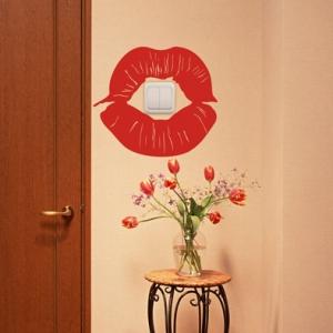 Поцелуй - наклейка на розетку, включатель, выключатель