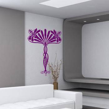 Декоративный узор - цветочный веер