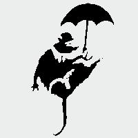 Крыса с зонтиком