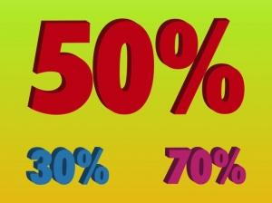 Наклейка Скидка проценты
