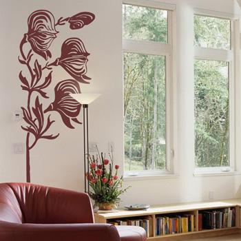 Декоративный узор - живые цветы