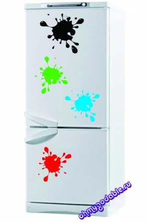Кляксы - набор наклеек на холодильник