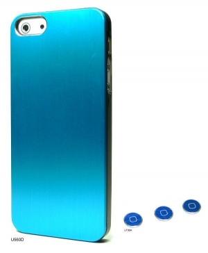 Наклейка на IPhone синий хром