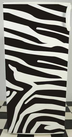наклейка на холодильник - Зебра