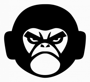 Angry monkey, наклейка