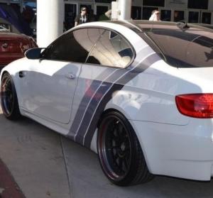 Наклейка BMW Silver