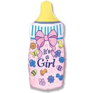 Бутылочка  - шар на выписку девочке - 82см