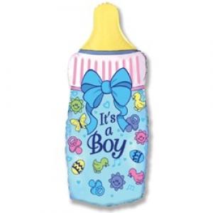 Бутылочка  - шар на выписку мальчику - 82см