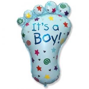 Ножка - шар на выписку мальчику - 81 см
