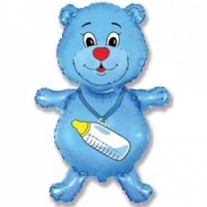 Медвежонок  - шар на выписку мальчику - 81 см