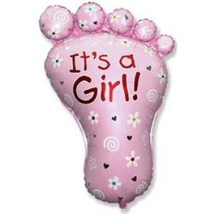 Ножка  - шар на выписку девочке - 81 см
