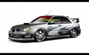 Набор наклеек Subaru на 2 борта