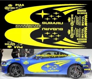 Полный комплект наклеек Racing
