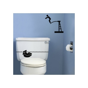 наклейка на туалет Курорт