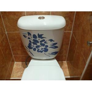 наклейка на туалет Цветы