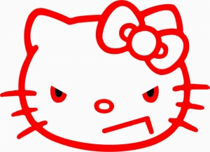 Angry Kitty, наклейка