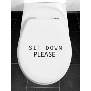 наклейка на унитаз Sit Down
