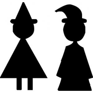 стикер - вывеска в wc - Волшебники