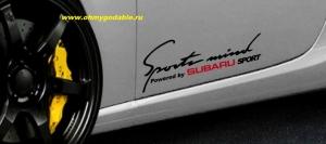 Subaru sports mind наклейка