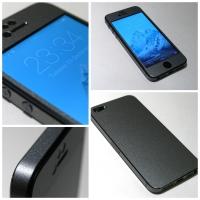 Наклейка на IPhone черная алмазная крошка