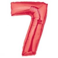 Шар цифра красный - 1м