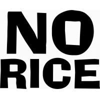 No rice, наклейка