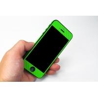 Наклейка на IPhone салатовый карбон 3D.