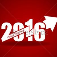 Вектор - Наклейка на Новый Год 2016