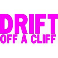 Drift off a cliff, наклейка