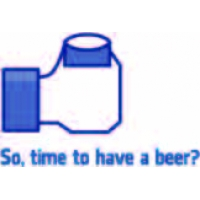Time to have beer, Facebook наклейка