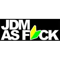 JDM as fuck , наклейка