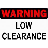 Warning low clearance, наклейка