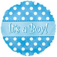 Это мальчик!  - шар на выписку мальчику - 50см
