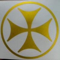 Грузинский крест - наклейка на автомобиль