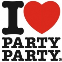 I love party party, наклейка