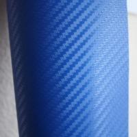 пленка под карбон; синий 3D