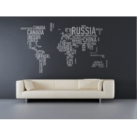 Карта мира, наклейка