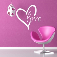Любовь, наклейка
