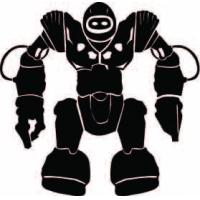 Мега робот, наклейка