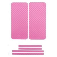 Наклейка на IPhone розовый карбон 3D.