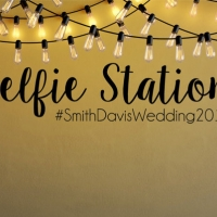 Selfie Station #ваштекст  - наклейка на свадьбу