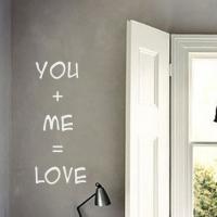 You + Me = Love - наклейка