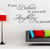 Believe - наклейка
