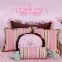 A princess sleeps here - наклейка