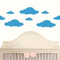 Облака - наклейки стики на стену